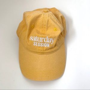 Yellow Saturday Session baseball hat for women